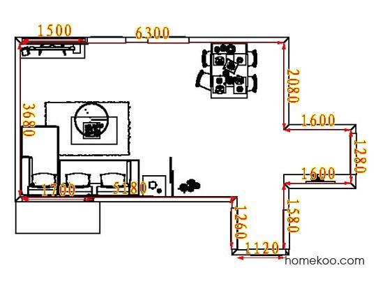 平面布置图乐维斯系列客餐厅G8133