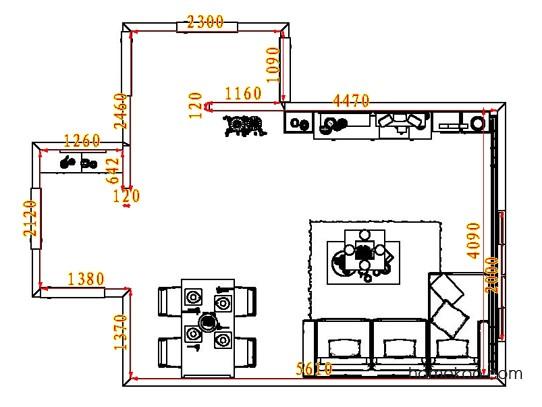 平面布置图斯玛特系列客餐厅G8164