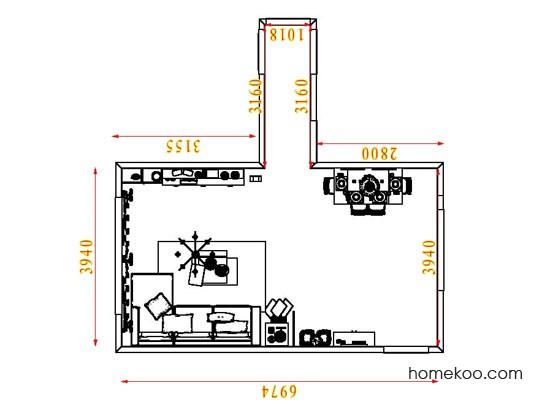 平面布置图乐维斯系列客餐厅G8165