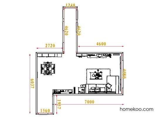 平面布置图斯玛特系列客餐厅G8166
