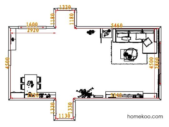 平面布置图柏俪兹系列客餐厅G8185