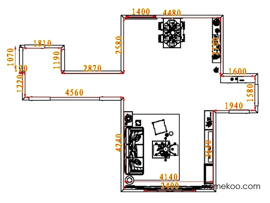平面布置图德丽卡系列客餐厅G8202