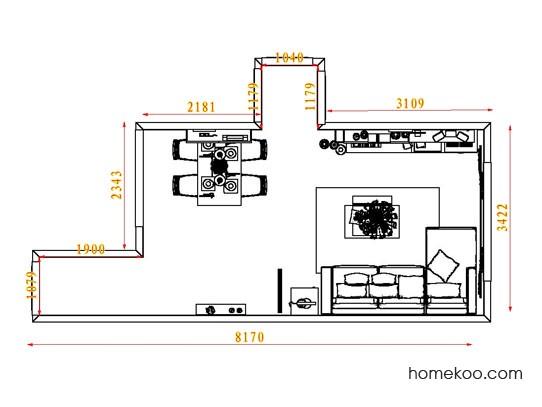 平面布置图贝斯特系列客餐厅G8219