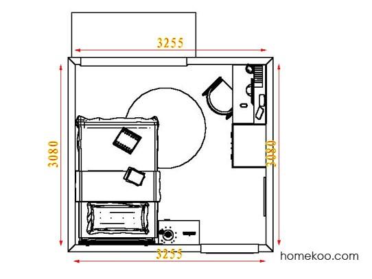 平面布置图柏俪兹系列青少年房B7502