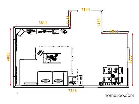 平面布置图德丽卡系列客餐厅G8245