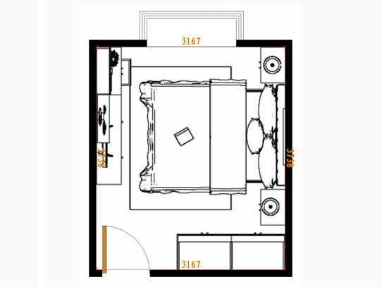 平面布置图乐维斯系列卧房A8372