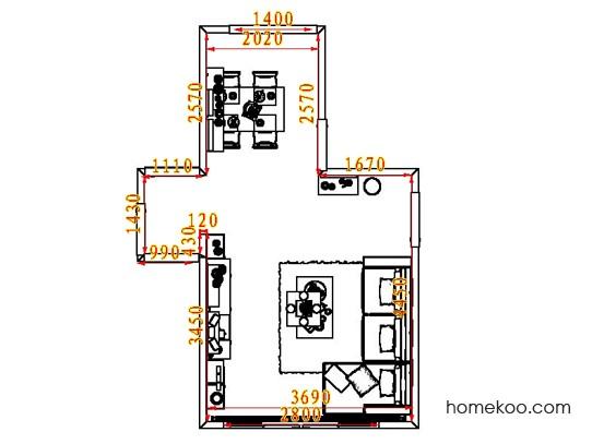 平面布置图斯玛特系列客餐厅G8269