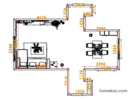 平面布置图德丽卡系列客餐厅G8274