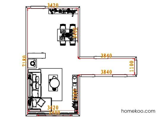平面布置图乐维斯系列客餐厅G8306