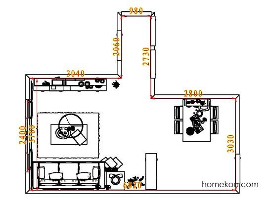 平面布置图贝斯特系列客餐厅G8309