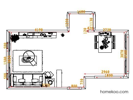 平面布置图柏俪兹系列客餐厅G8322