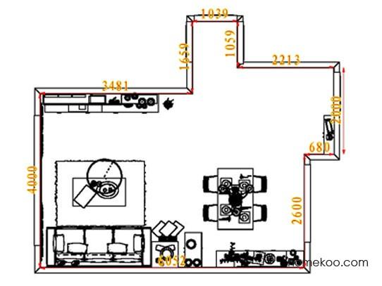 平面布置图斯玛特系列客餐厅G8345