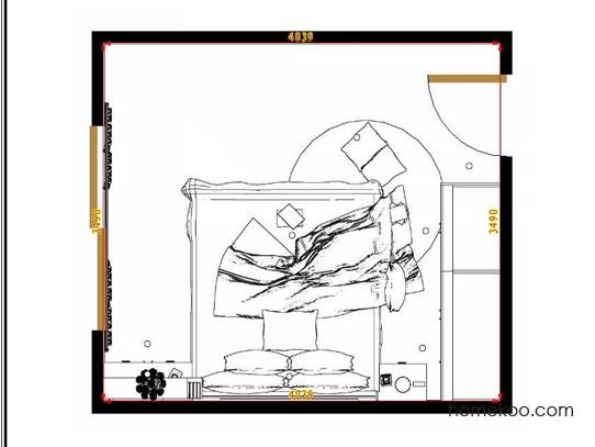 平面布置图斯玛特系列卧房A8455