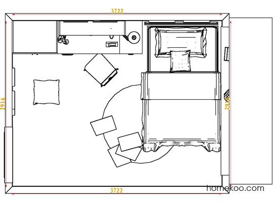 平面布置图贝斯特系列青少年房B7767