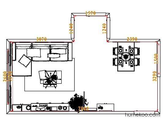 平面布置图格瑞丝系列客餐厅G8389