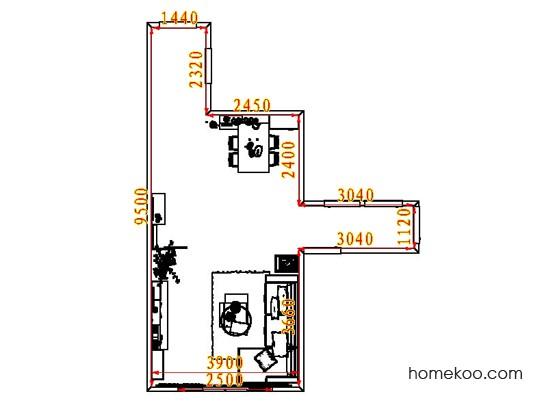 平面布置图斯玛特系列客餐厅G8428