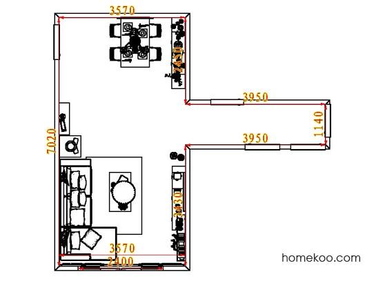 平面布置图德丽卡系列客餐厅G8433