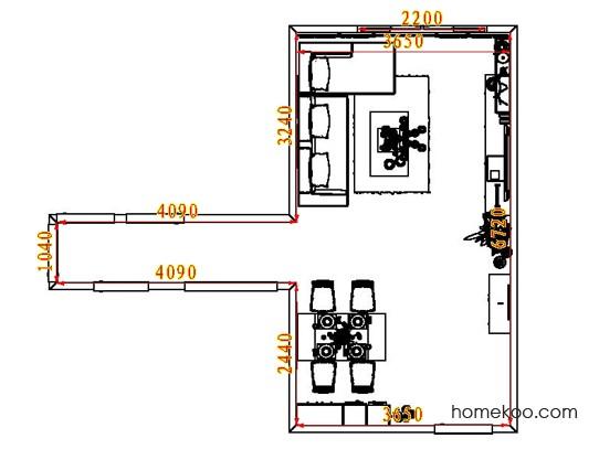平面布置图柏俪兹系列客餐厅G8455