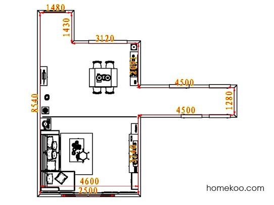平面布置图德丽卡系列客餐厅G8456