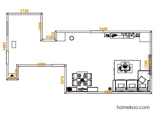 平面布置图贝斯特系列客餐厅G8477