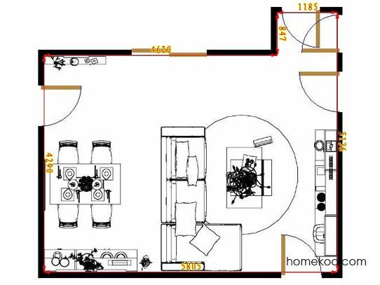 平面布置图乐维斯系列客餐厅G8531