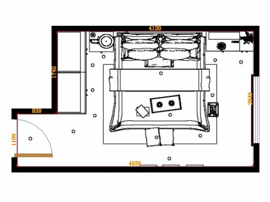 平面布置图贝斯特系列卧房A9773