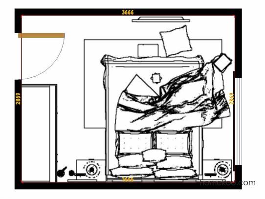 平面布置图格瑞丝系列卧房A9794