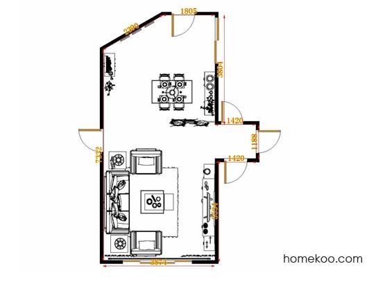 平面布置图乐维斯系列客餐厅G8908