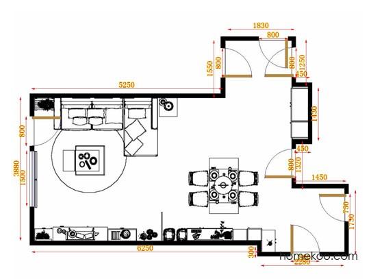 平面布置图斯玛特系列客餐厅G8915