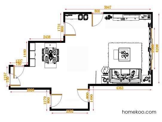 平面布置图德丽卡系列客餐厅G8969