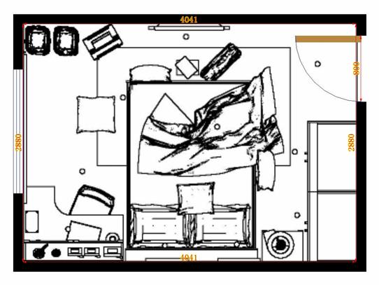 平面布置图贝斯特系列卧房A12387