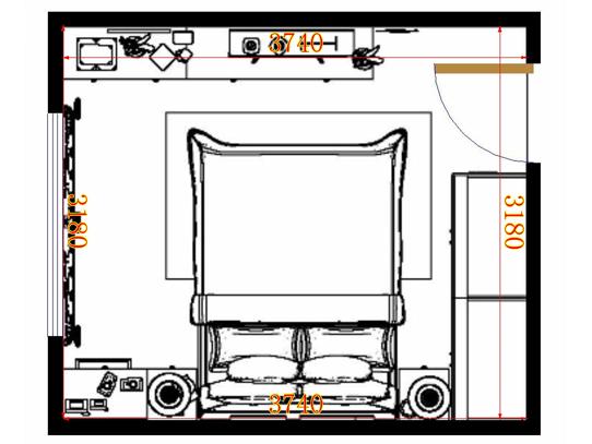 平面布置图柏俪兹系列卧房A10146