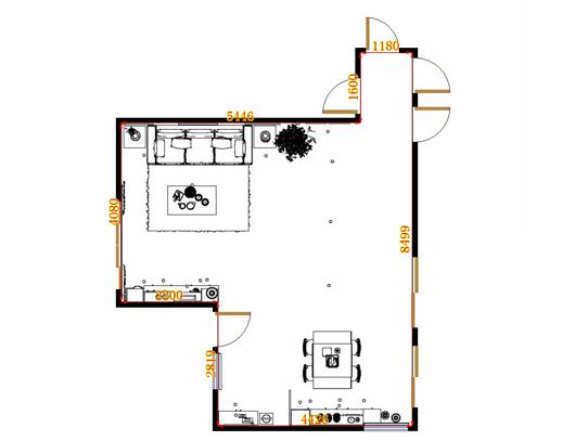 平面布置图斯玛特系列客餐厅G9011