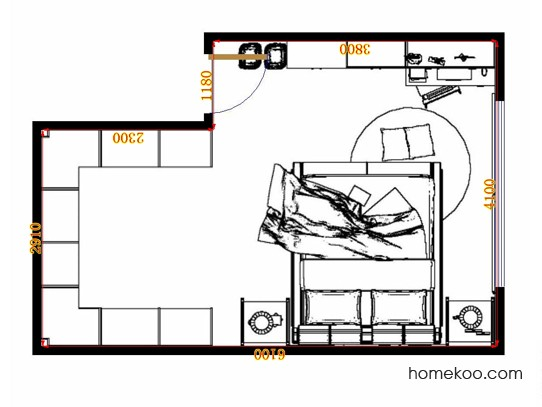 平面布置图德丽卡系列卧房A10172