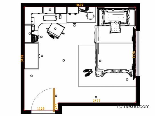平面布置图柏俪兹系列青少年房B10087