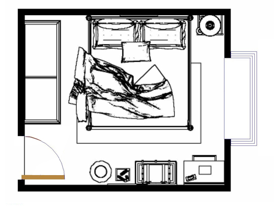 平面布置图格瑞丝系列卧房A10206