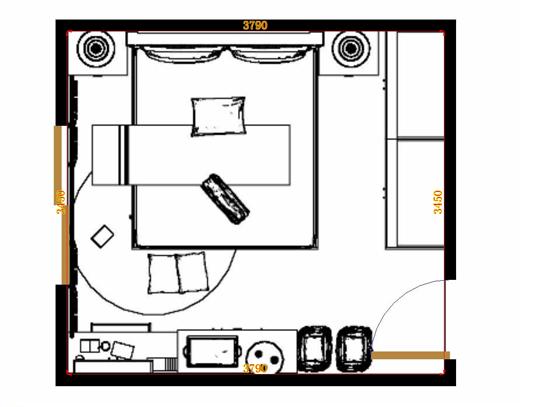 平面布置图贝斯特系列卧房A11019