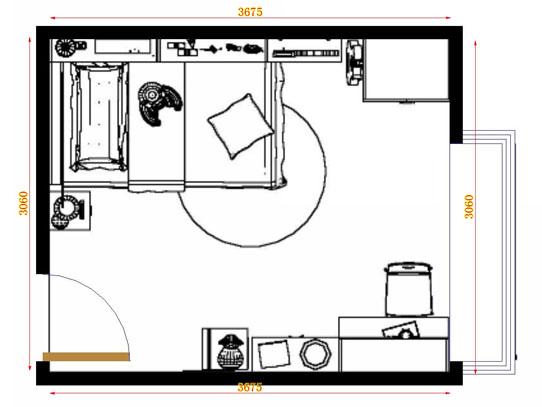平面布置图贝斯特系列青少年房B10313