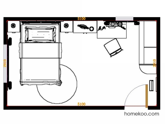平面布置图乐维斯系列青少年房B10359