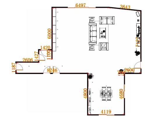 平面布置图乐维斯系列客餐厅G9127
