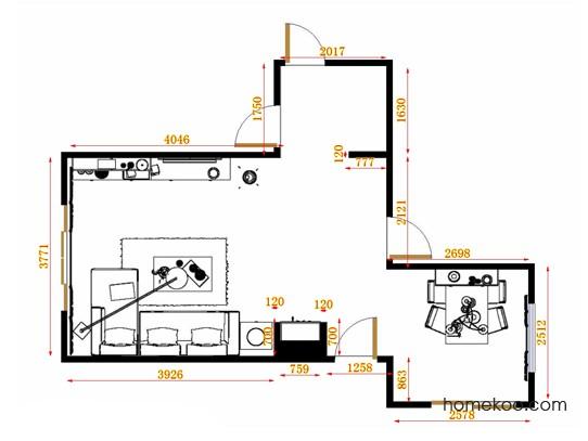 平面布置图德丽卡系列客餐厅G9131