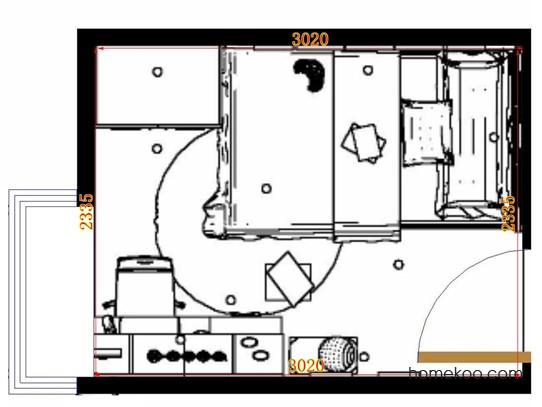 平面布置图乐维斯系列青少年房B10444
