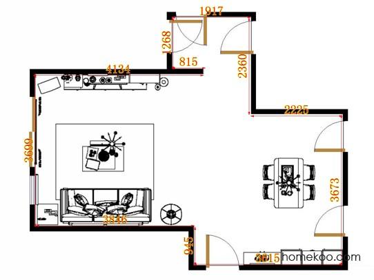 平面布置图柏俪兹系列客餐厅G9162