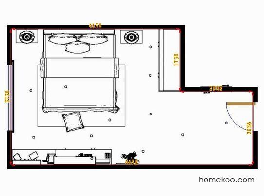 平面布置图贝斯特系列卧房A10539