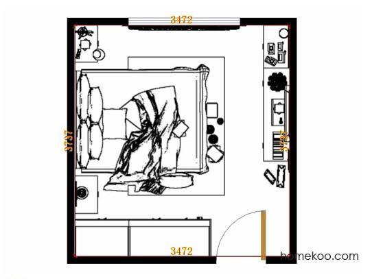 平面布置图柏俪兹系列卧房A10543