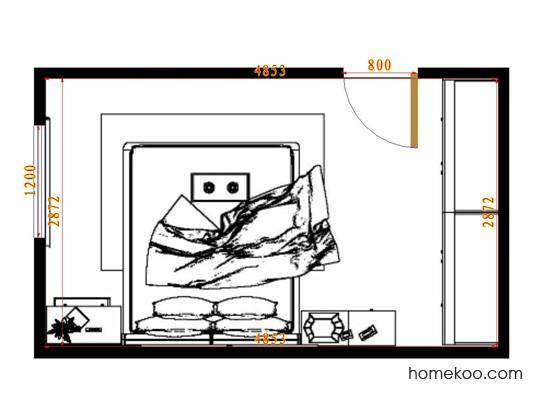 平面布置图柏俪兹系列卧房A10560
