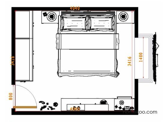 平面布置图乐维斯系列卧房A10576