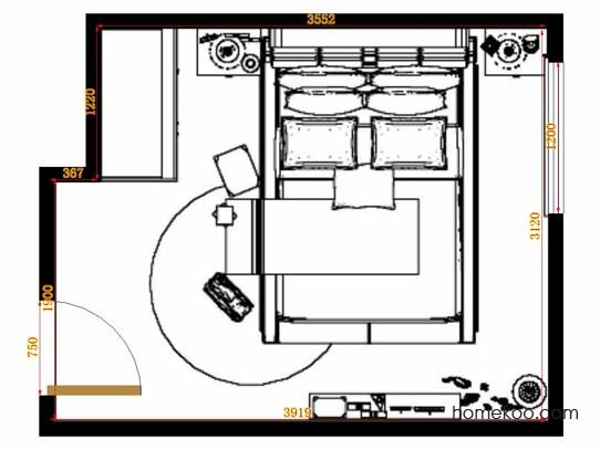 平面布置图格瑞丝系列卧房A10580