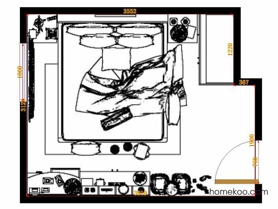 平面布置图柏俪兹系列卧房A10586