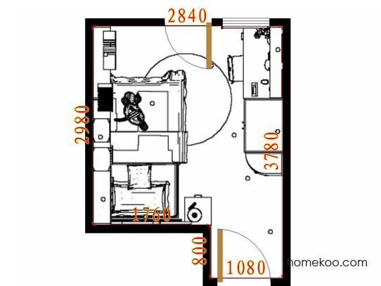 平面布置图乐维斯系列青少年房B10548